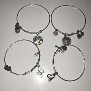 4 Alex and Ani bracelets
